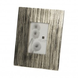 "Dimond Home Aluminum Bark 8"""" Photo Frame in Silver"