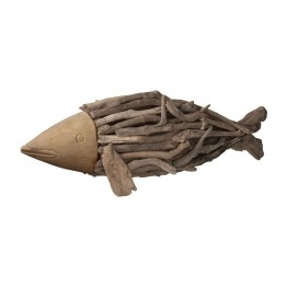 Dimond Home Driftwood Fish Figurine in Brown