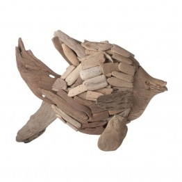 Dimond Home Driftwood Angel Fish Figurine in Brown