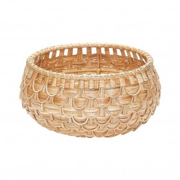 "Dimond Home 9"""" Fish Scale Basket in Natural"