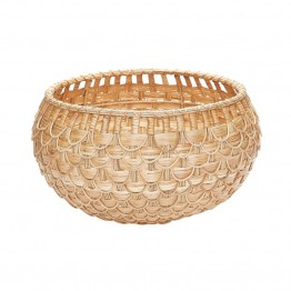 "Dimond Home 12"""" Fish Scale Basket in Natural"