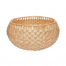 "Dimond Home 13.8"""" Fish Scale Basket in Natural"