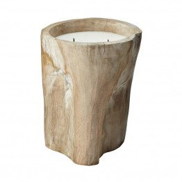 "Dimond Home 12"""" Log Candle in Tan"