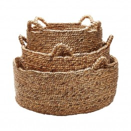 Dimond Home 3 Piece Natural Low Rise Basket Set in Brown