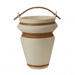 Dimond Home Tofu Urn in Cream