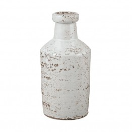 Dimond Home Rustic White Milk Bottle in White