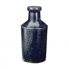 Dimond Home Rustic Denim Milk Bottle in Blue