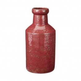 Dimond Home Rustic Sangria Milk Bottle in Red