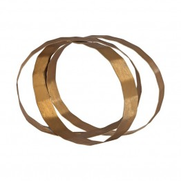 Dimond Home Asymmetric Ovals Table Top Sculpture in Gold Leaf