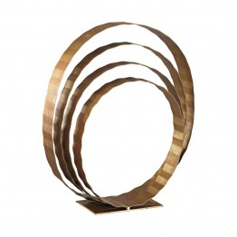 Dimond Home Concentric Rings Table Top Sculpture in Gold Leaf