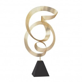 Dimond Home Metal Sculpture in Gold On Black