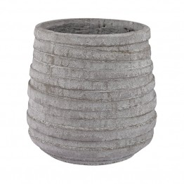 Dimond Home Barn Gray Corrugated Pot in Light Gray Stone
