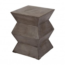 "Dimond Home Cubo 13.8"""" Foot Stool in Concrete"