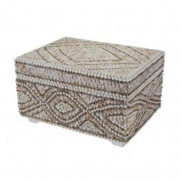 "Dimond Home 7.3"""" Shell Box in Natural"