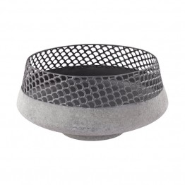 Dimond Home Pewter and Metal Bowl in Pewter and Cement
