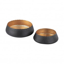 Dimond Home 2 Piece Bowl Set in Dark Bronze and Gold