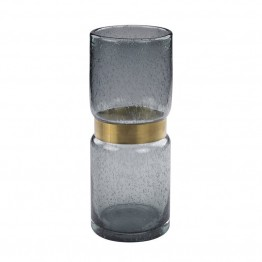Dimond Home Banded Flair Vase in Gray Smoke