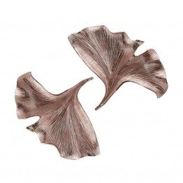 "Dimond Home Ginkgo 15"""" 2 Piece Wall Sculpture Set in Rose Gold"