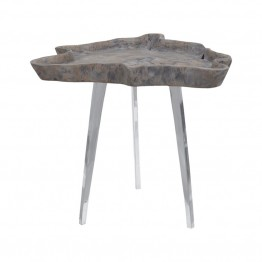 Dimond Home Jambi Accent Table in Aged Gray Wash