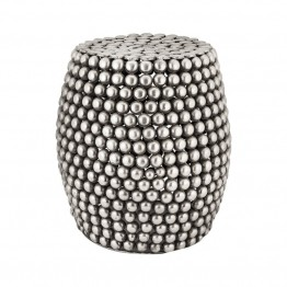 Dimond Home Foot Stool in Pewter Antique