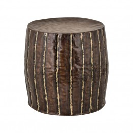 Dimond Home Foot Stool in Copper and Brass