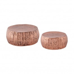 Dimond Home Pascha 2 Piece Accent Table Set in Copper