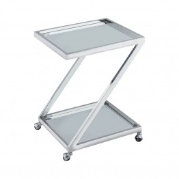 Dimond Home Zuri Bar Cart in Polished Nickel