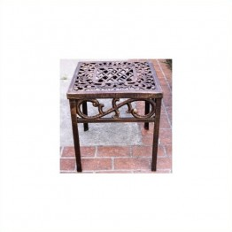 Oakland Living Mississippi Cast Aluminium Square End Table-Verdi Grey