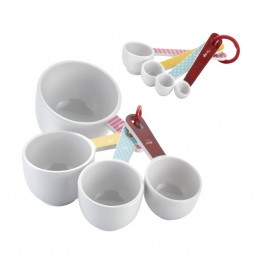 Cake Boss Countertop Accessories 8 Piece Measuring Cup and Spoon Set