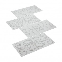 Cake Boss Decorating Tools 4 Piece Classic Fondant Imprint Mat Set