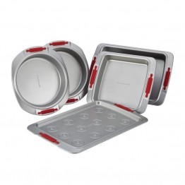 Cake Boss Deluxe Bakeware Nonstick 5 Piece Bakeware Set in Gray