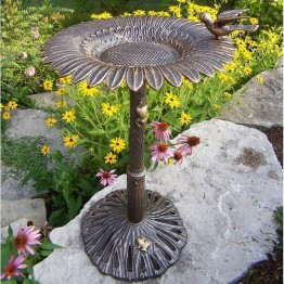 Oakland Living Sunflower Bird Bath