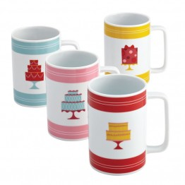 Cake Boss Serveware 4 Piece Mug Set