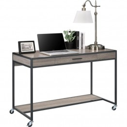 Altra Furniture Mason Ridge Mobile Computer Desk in Sonoma Oak and Black