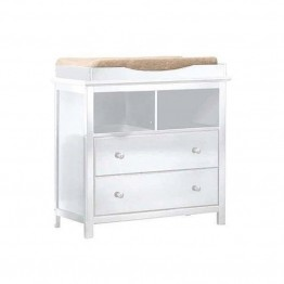 Sorelle Yorkshire 2 Drawer Changing Table with Galley Rail in White