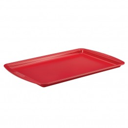 "Silverstone Bakeware Nonstick 11"""" x 17"""" Baking Sheet in Chili Red"