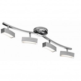 Elan Lighting Landon 4 Lights LED Track Light in Chrome