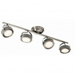 Elan Lighting Sevier 4 Lights LED Track Light in Brushed Nickel