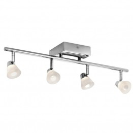 Elan Lighting Haisle LED Track Light with White Shade in Chrome