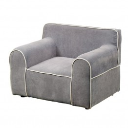 Furniture of America Zenner Upholstered Chair in Gray