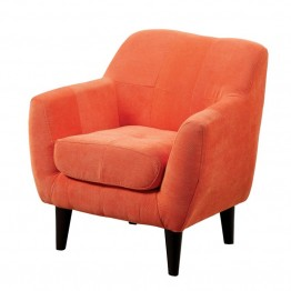Furniture of America Kasey Upholstered Chair in Orange