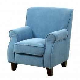 Furniture of America Taliah Upholstered Chair in Blue
