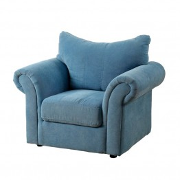 Furniture of America Grenna Upholstered Chair in Blue