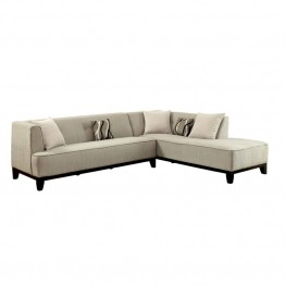 Furniture of America Enna Fabric Sectional in Beige