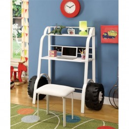 Furniture of America Ramirez Kids Desk with Stool in White