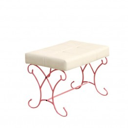 Furniture of America Heiress Kids Bedroom Bench in Pink and White