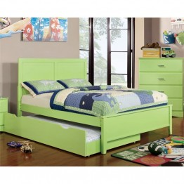 Furniture of America Geller Full Panel Bed in Pistachio Green
