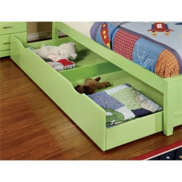 Furniture of America Geller Contemporary Kids Trundle in Green