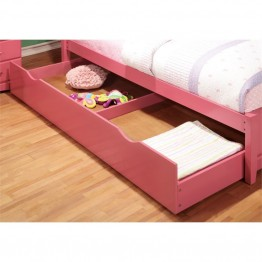 Furniture of America Geller Contemporary Kids Trundle in Pink