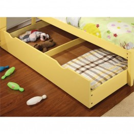 Furniture of America Geller Contemporary Kids Trundle in Lemon Yellow
